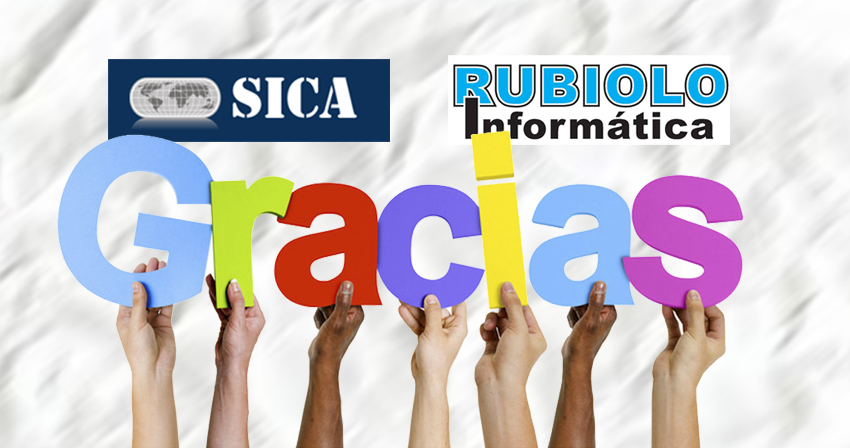 Bienvenidos SICA y Rubiolo Computación. Gracias por participar.