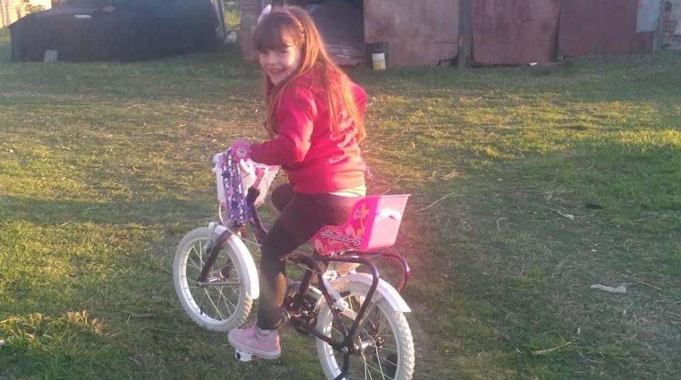 Y Gianna tiene su Bici!!!