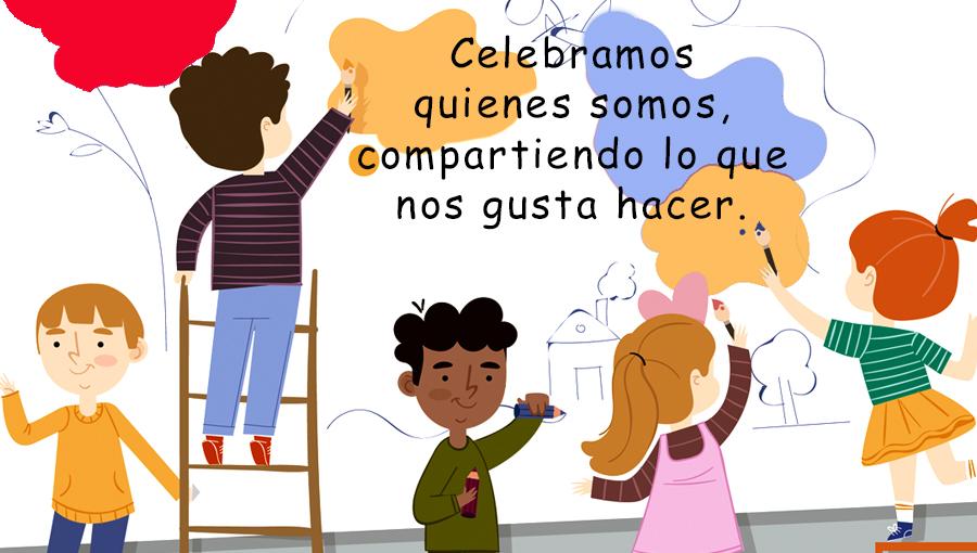 Celebramos la niñez potenciando la creatividad y ganas de participar de los peques.